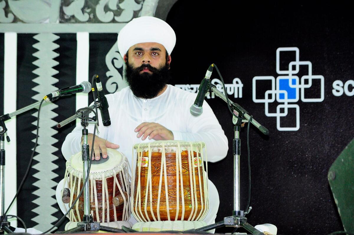 Playing Pakhawaj solo in Dr. Vasantrao dekhpande akhil Bhartiya Yuva sangeet sammelan in year 2016.