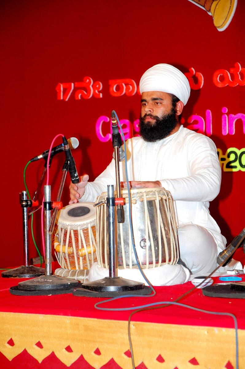 Pakhawaj representative gian singh Namdhari is playing jori in open National youth festival held at manglore Karnataka . representing Punjab State in this event. In 2012