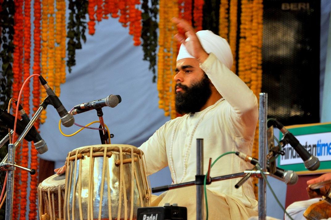 This picture was Captured during performance in harivallabh sangeet sammelan Jalandhar- Punjab by young exponent of Punjab Gharana/ Pakhawaj tradition of Jori in year 2011