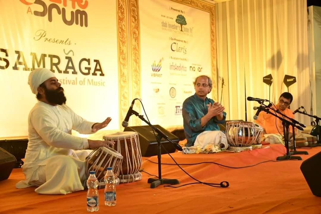 Live concert with living legend Pandit Yogesh Samsi ji  team in SAMRAGA Festival of Music