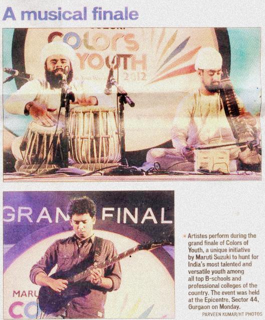 News Paper Showing - Jori Solo In Musical Finale — at Gurgaon, Haryana.