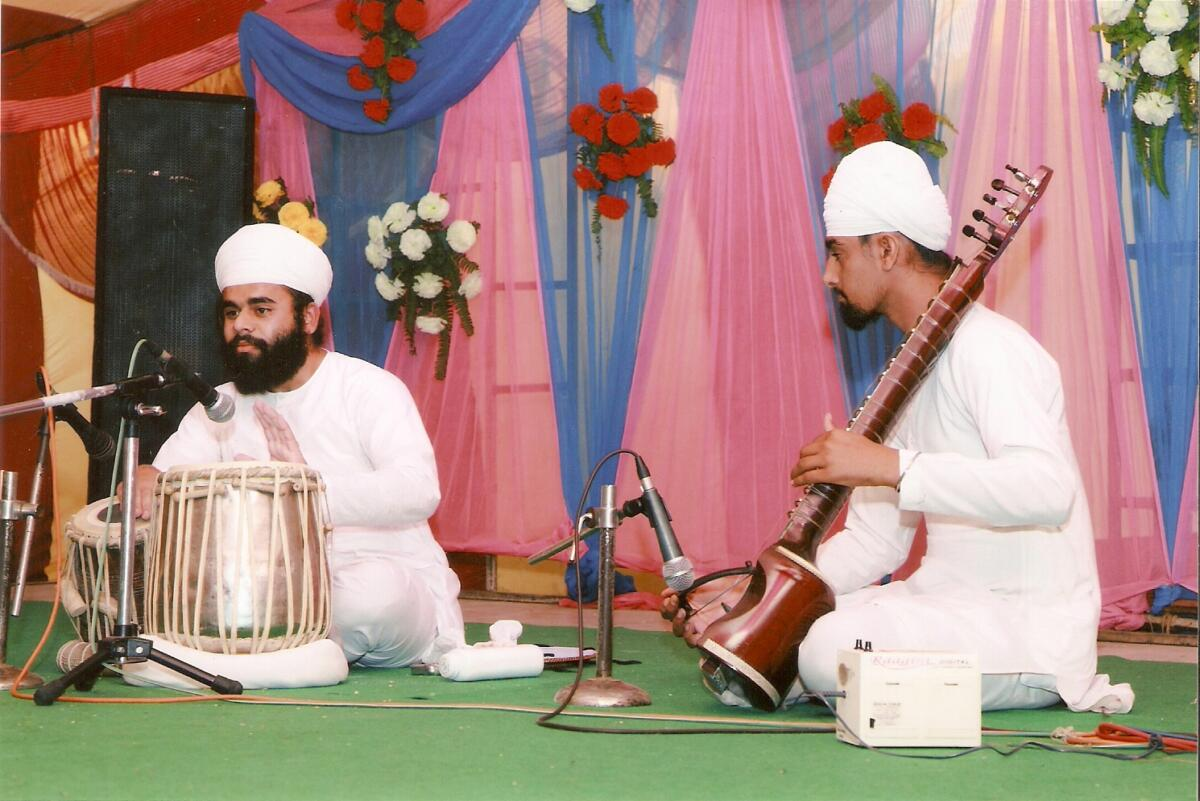 Playing the rare instrument Jori in Inter zonal youth festival in Ludhiana year 2012 .