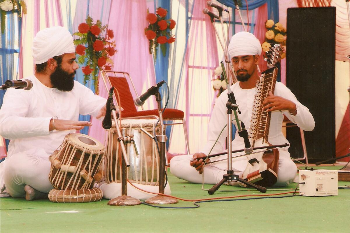 Playing Pakhawaj the sikh Instrument in Inter college youth festival in Ludhiana year 2012